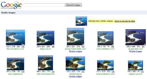 Google Similar Imagen