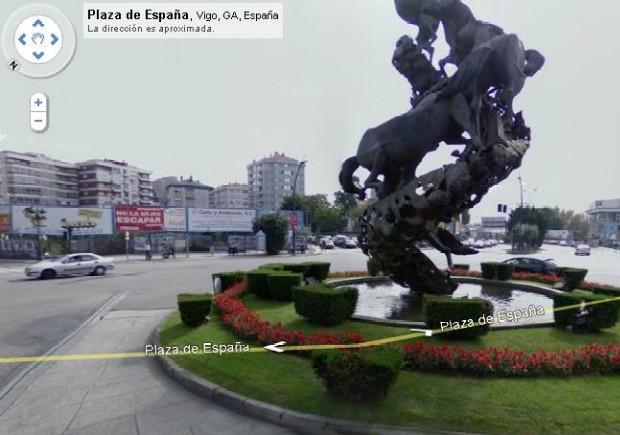 Plaza de España de Vigo en Google Street View.