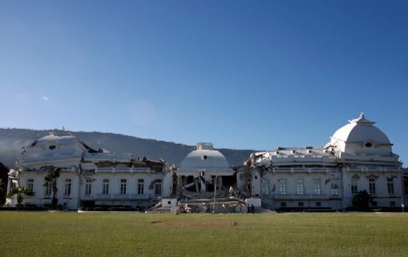 Palacio presidencial de Haití tras el terremoto